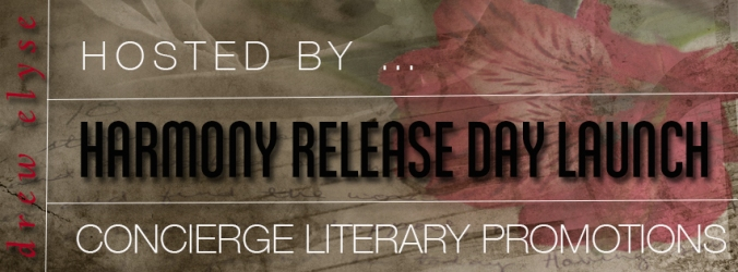 Drew Elyse's Harmony Release Day Launch Banner